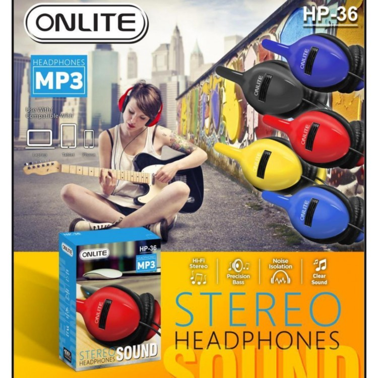 ONLITE STEREO SOUND HEADPHONES HP-36