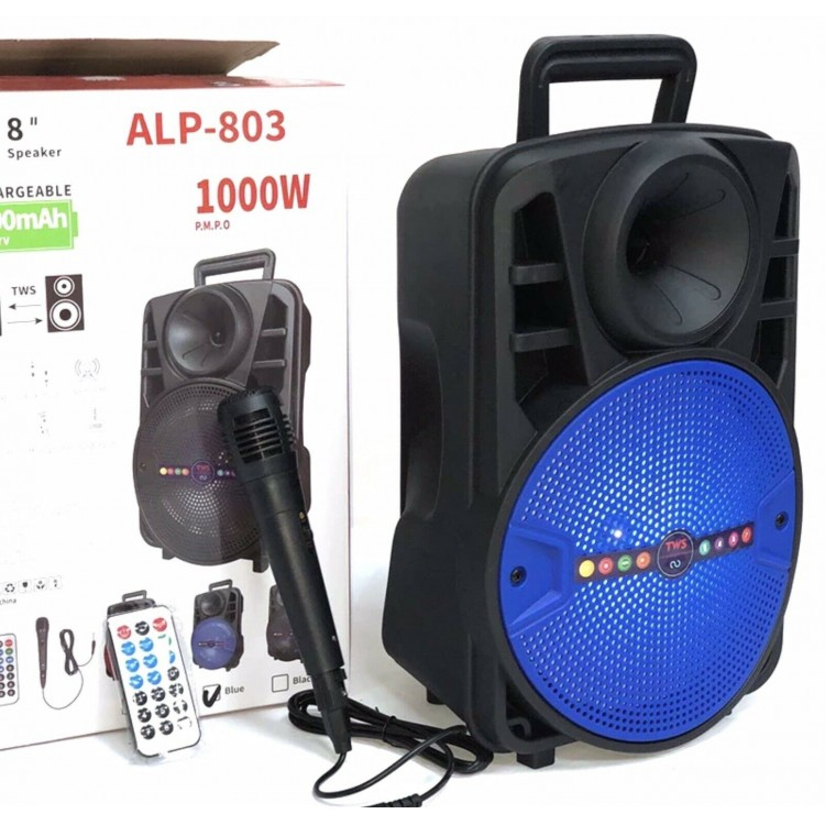HIFI ALP-801 Portable Wireless Speakers 1000W P.M.P.O
